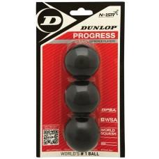 мяч для сквоша Dunlop Progress 3 штуки