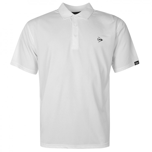 Dunlop Plain Polo Shirt 71 White M