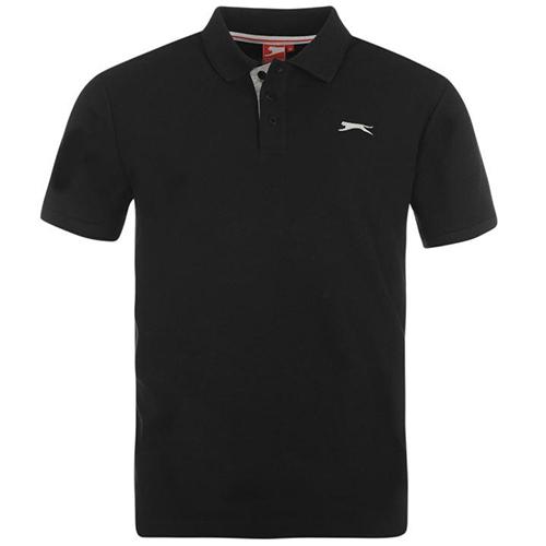 Slazenger Plain Polo Shirt Mens 30 Black