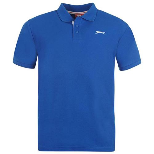 Slazenger Plain Polo Shirt Mens 30 Blue