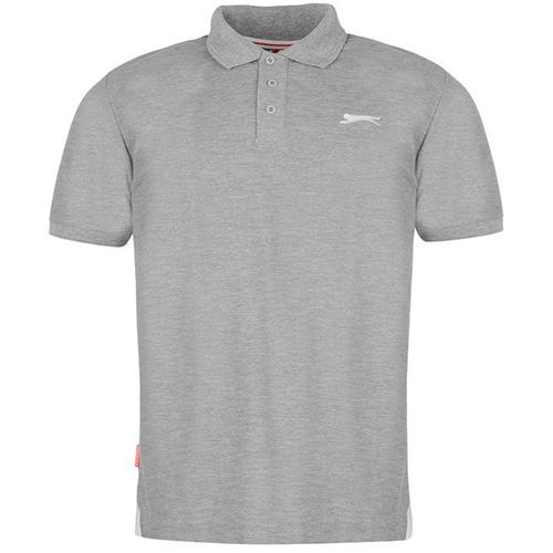 Slazenger Plain Polo Shirt Mens 30 Gray