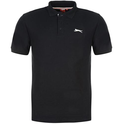 Slazenger Plain Polo Shirt Mens 30 Navy