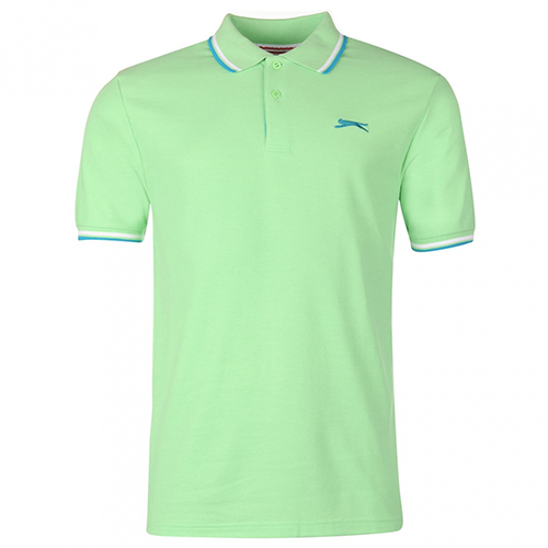 Slazenger Tipped Polo Shirt Green